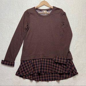 Anthropologie Mystree Sweatshirt Shirt Tail S NEW